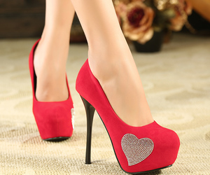 heels, red, and heart image