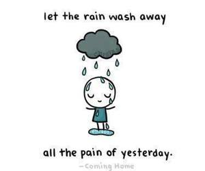 rain, pain, and quote image