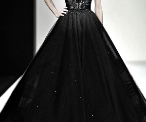 fashion, dress, and black dress image