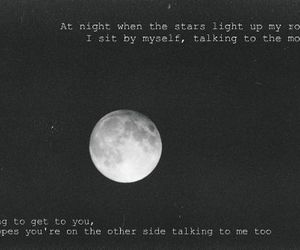 black and white, song, and talk image