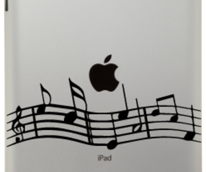 decal, music, and musical image