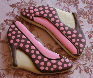 polka-dots, stilettos, and shoes image