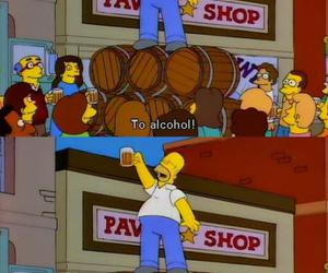 homer, alcohol, and funny image