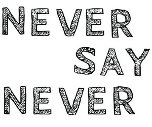 never and love image