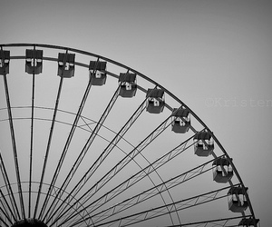amusement park, grayscale, and nikon image