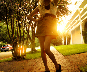 blonde, sunlight, and girl image