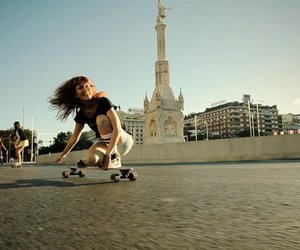 cool, friends, and longboarding image