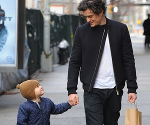 family, orlando bloom, and flynn bloom image