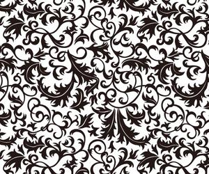 baroque, black&white, and damask image