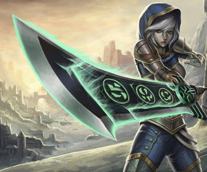 riven, league of legends, and fighter image