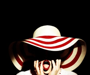 hat, red, and vintage image