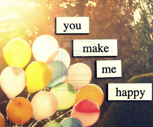 balloons, quote, and you image