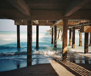 beach, ocean, and pier image