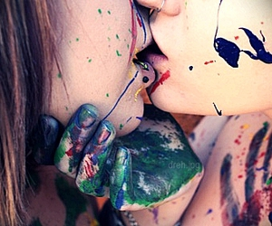 colors, kiss, and lesbian image
