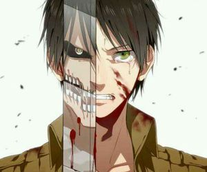 snk, eren, and titanes image