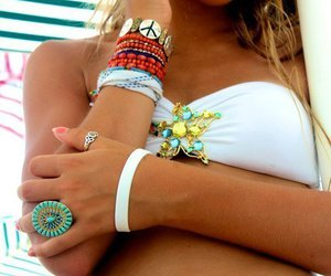 bikini, pretty, and tan image