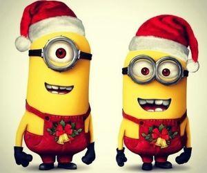 minions, christmas, and yellow image