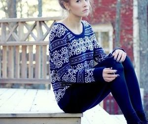 girl, winter, and sweater image
