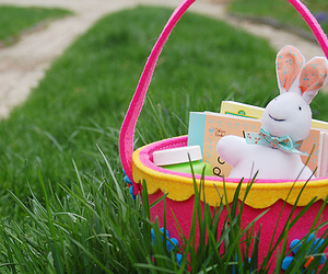 easter bunny, green, and pink image