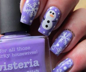 purple, nails, and cute image