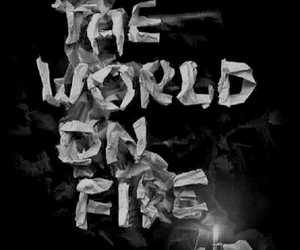 fire, black veil brides, and set the world on fire image