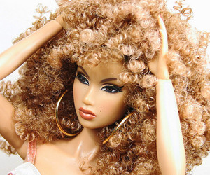 barbie, doll, and hair image