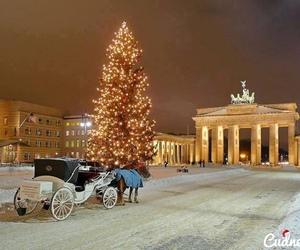 christmas, berlin, and snow image