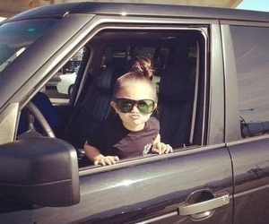 girl, car, and baby image