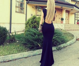 backless, beautiful, and blonde image