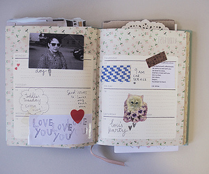 diary, frankie, and scrapbook image