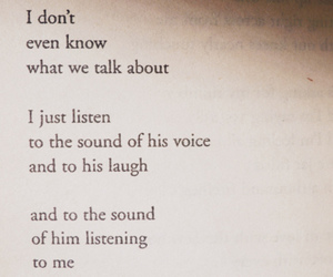 His, listening, and me image