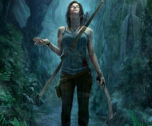 rain, woman, and lara croft image