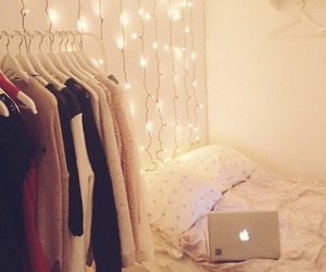 lights, room, and clothes image