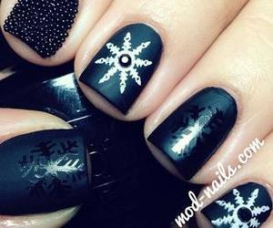 nails, black, and christmas image