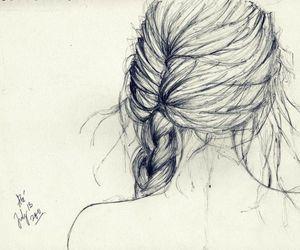 drawing, hair, and art image