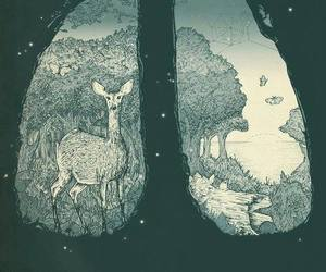 nature, lungs, and art image