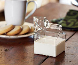 milk, glass, and food image
