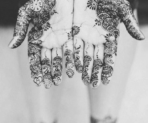 tattoo, hands, and black and white image