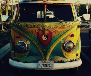 car and hippie image