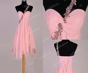 prom dresses, pink bridesmaid dress, and pink prom dresses image
