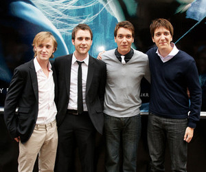 tom felton, james phelps, and oliver phelps image