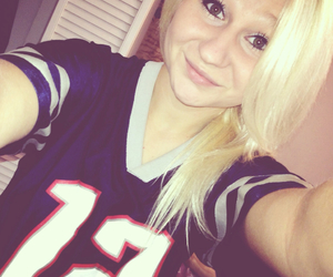blonde, patriots, and football image