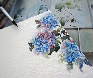 beautiful, blue, and paint image