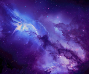 space, purple, and galaxy image