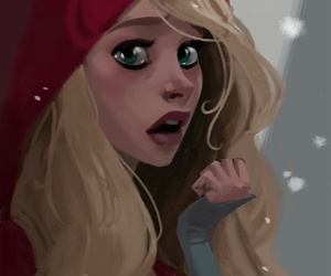 girl, red, and red riding hood image