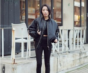asian, style, and black image