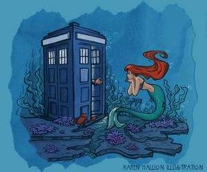 doctor who, little, and mermaid image