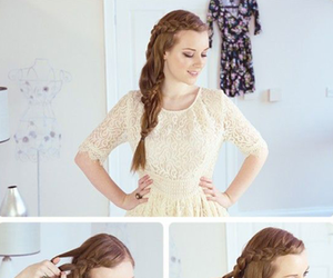 braid, hair, and wavy hair image