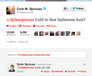 tweet, dylan sprouse, and twins image