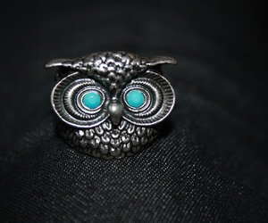 ring, owl ring, and accesorie image